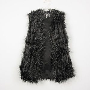 Sugar + Lips Jackets & Coats - Faux Fur Long Vest